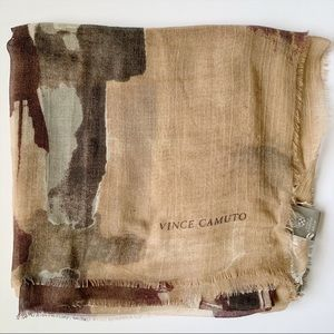 Vince Camuto Womens Square Watercolor Tan Purple